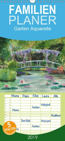 Garten Aquarelle – Familienplaner hoch (Wandkalender 2019 , 21 cm x 45 cm, hoch) von Krause,  Jitka