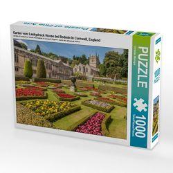 Garten vom Lanhydrock House bei Bodmin in Cornwall, England 1000 Teile Puzzle quer von Mueringer, Christian