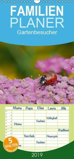 Gartenbesucher – Familienplaner hoch (Wandkalender 2019 , 21 cm x 45 cm, hoch) von Mueller,  Gerhard