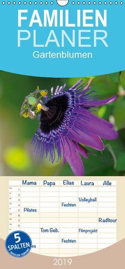 Gartenblumen – Familienplaner hoch (Wandkalender 2019 , 21 cm x 45 cm, hoch) von Geduldig,  Bildagentur