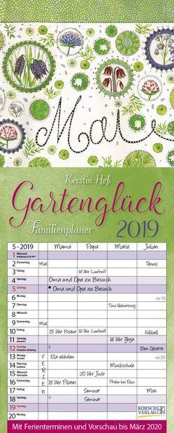 Gartenglück 2019 von Hess,  Kerstin, Korsch Verlag