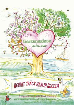 Gartensaisonkalender 2020 – Bildkalender A3 (30 x 42) – mit Ferienterminen – mit Rezepten und saisonalen Gartentipps – Wandplaner von Haß,  Karin ALPHA EDITION