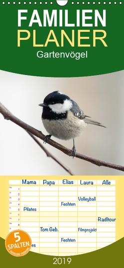 Gartenvögel – Familienplaner hoch (Wandkalender 2019 , 21 cm x 45 cm, hoch) von - Romy Schötz,  Samashy