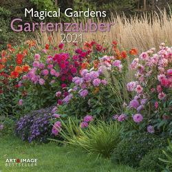 Gartenzauber 2021 – Wand-Kalender – Broschüren-Kalender – A&I – 30×30 – 30×60 geöffnet