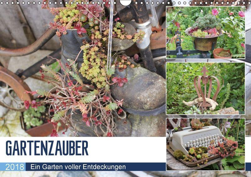 Gartenzauber wandkalender 2018 din a3 quer von n n for Metallskulpturen garten