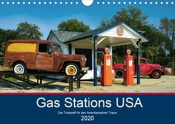 Gas Stations USA – Der Treibstoff für den Amerikanischen Traum (Wandkalender 2020 DIN A4 quer) von Robert,  Boris