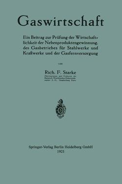 Gaswirtschaft von Starke,  Richard Ferdinand