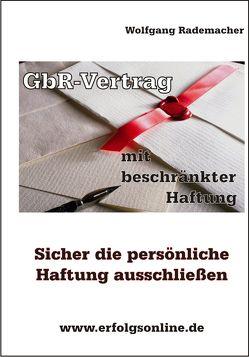 GbR-Vertrag mit beschränkter Haftung von Rademacher,  Wolfgang