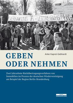 Geben oder Nehmen von Kaprol-Gebhardt,  Anke