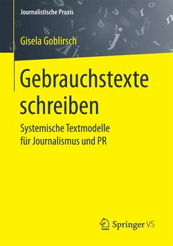 Gebrauchstexte schreiben von Goblirsch,  Gisela