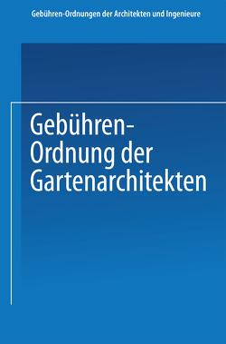 Gebühren-Ordnung der Gartenarchitekten