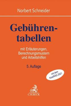 Gebührentabellen von Schneider,  Norbert