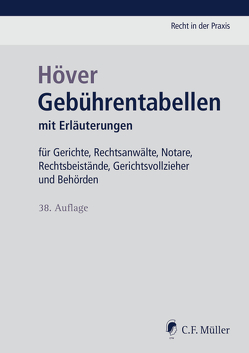 Gebührentabellen von Höver,  Albert, Oberlack,  Henning