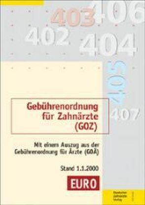 Gebührenordnung für Zahnärzte (GOZ) vom 22.10.1987
