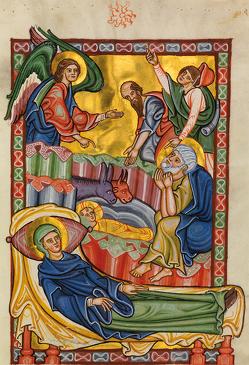 Geburt Christi und Verkündigung an die Hirten