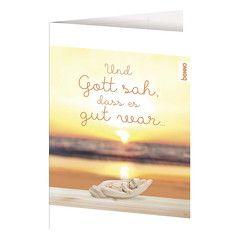 Geburtskarte »Und Gott sah, dass es gut war«