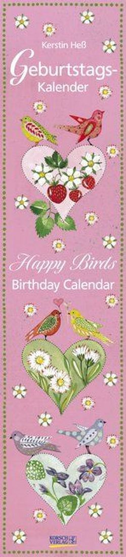 Geburtstags-LP Happy Birds i.w. von Hess,  Kerstin, Korsch Verlag