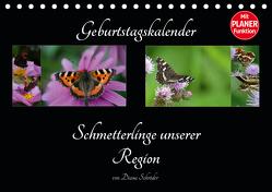 Geburtstagskalender Schmetterlinge unserer Region (Tischkalender 2020 DIN A5 quer) von Schröder,  Diana