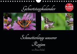 Geburtstagskalender Schmetterlinge unserer Region (Wandkalender 2020 DIN A4 quer) von Schröder,  Diana