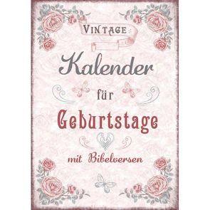 Geburtstagskalender Vintage von Christliche Schriftenverbreitung,  e.V.