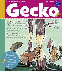Gecko Kinderzeitschrift Band 58 von Becker, Timo, Gutzschhahn, Uwe-Michael, Helmig, Alexandra, Ludin, Marine, Rösler, André, Wolfrum, Silke