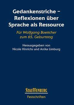 Gedankenstriche – Reflexionen über Sprache als Ressource von Hinrichs,  Nicole, Limburg,  Anika