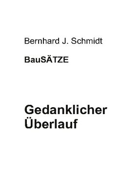Gedanklicher Überlauf von Schmidt,  Bernhard J.