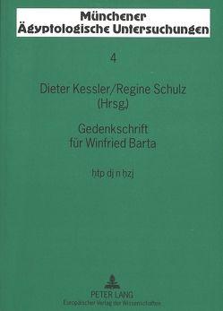 Gedenkschrift für Winfried Barta von Kessler,  Dieter, Schulz,  Regine