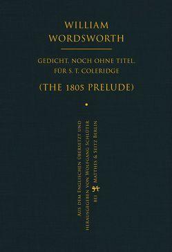 Gedicht, noch ohne Titel, für S. T. Coleridge von Schlüter,  Wolfgang, Wordsworth,  William