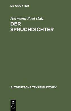 Gedichte von Brunner,  Horst, Paul,  Hermann, Ranawake,  Silvia, Walther von der Vogelweide