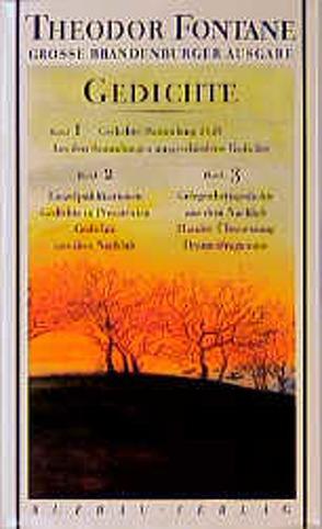 Gedichte von Fontane,  Theodor, Krueger,  Joachim