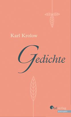 Gedichte von Bosch,  Manfred, Krolow,  Karl