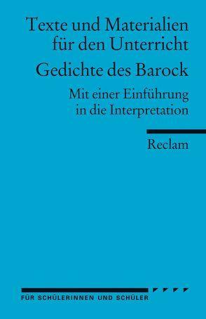 Gedichte des Barock von Jentzsch,  Peter