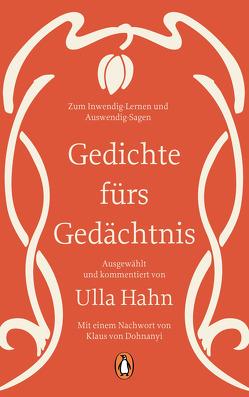 Gedichte fürs Gedächtnis von Dohnanyi,  Klaus von, Hahn,  Ulla