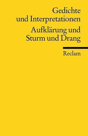 Gedichte und Interpretationen / Aufklärung und Sturm und Drang von Richter,  Karl