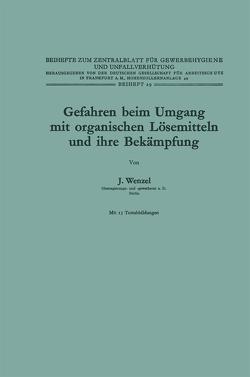 Gefahren beim Umgang mit organischen Lösemitteln und ihre Bekämpfung von Wenzel,  Johannes
