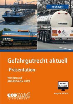 Gefahrgutrecht aktuell – Präsentation von Holzhäuser,  Jörg