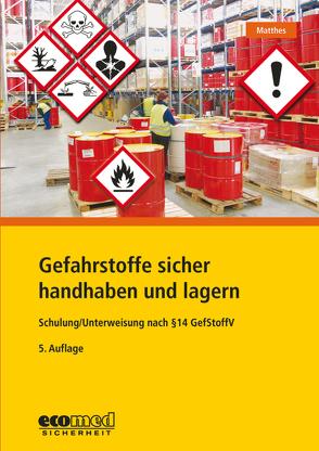 Gefahrstoffe sicher handhaben und lagern von Matthes,  Günter