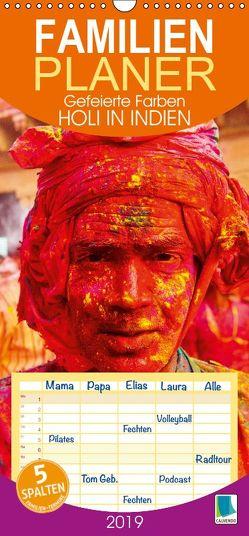 Gefeierte Farben: Holi in Indien – Familienplaner hoch (Wandkalender 2019 , 21 cm x 45 cm, hoch) von CALVENDO