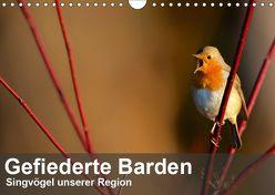 Gefiederte Barden – Singvögel unserer Region (Wandkalender 2019 DIN A4 quer) von Krebs,  Alexander