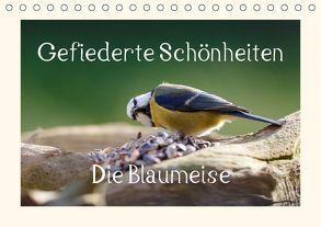 Gefiederte Schönheiten – Die Blaumeise (Tischkalender 2018 DIN A5 quer) von Poetsch,  Rolf