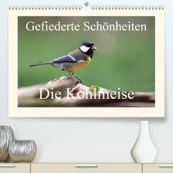 Gefiederte Schönheiten – Die Kohlmeise (Premium, hochwertiger DIN A2 Wandkalender 2021, Kunstdruck in Hochglanz) von Poetsch,  Rolf