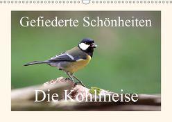 Gefiederte Schönheiten – Die Kohlmeise (Wandkalender 2019 DIN A3 quer) von Poetsch,  Rolf