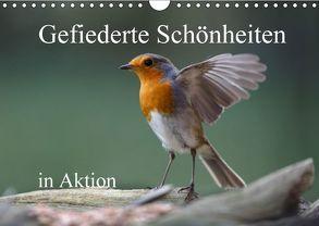 Gefiederte Schönheiten in Aktion (Wandkalender 2018 DIN A4 quer) von Poetsch,  Rolf