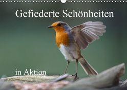 Gefiederte Schönheiten in Aktion (Wandkalender 2019 DIN A3 quer) von Poetsch,  Rolf