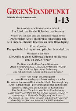 GegenStandpunkt 1-13 von GegenStandpunkt Verlag München