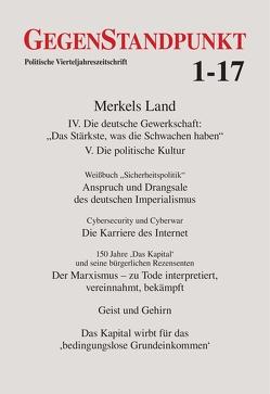 GegenStandpunkt 1-17 von GegenStandpunkt Verlag München