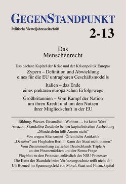 GegenStandpunkt 2-13 von GegenStandpunkt Verlag München