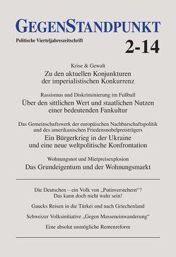 GegenStandpunkt 2-14 von GegenStandpunkt Verlag München
