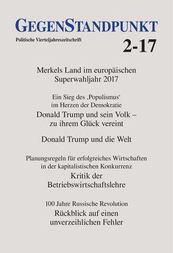 GegenStandpunkt 2-17 von GegenStandpunkt Verlag München